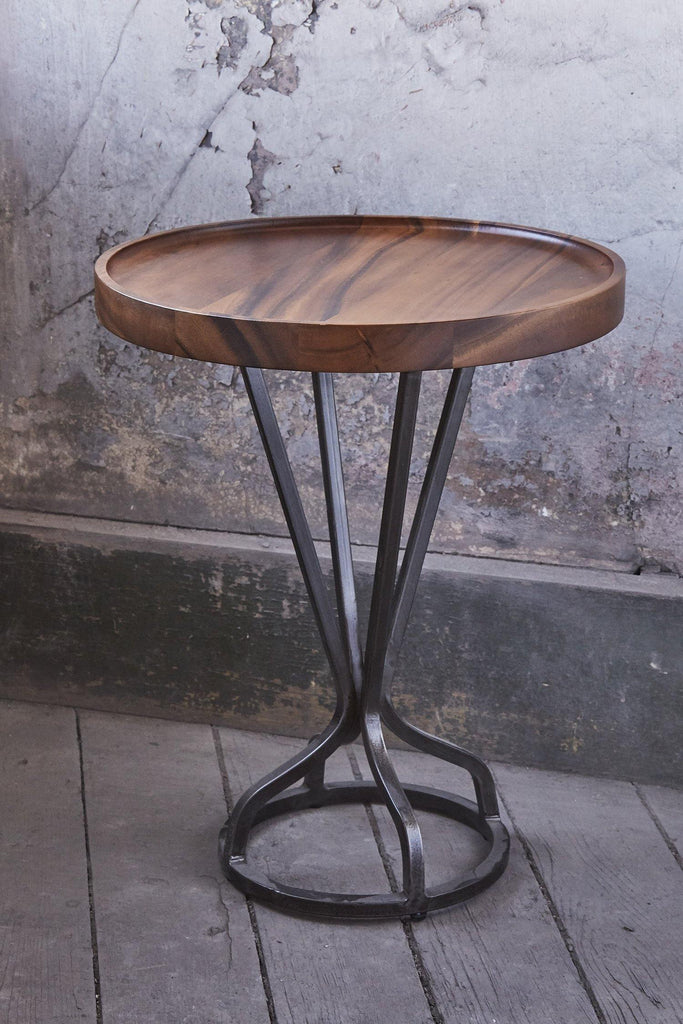 Patina Vie Natural Vintage Industrial End Table - Patina Vie
