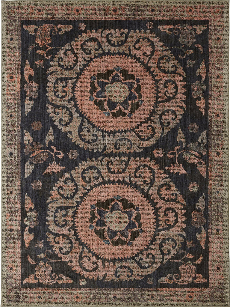 Suzani Tapestry Sapphire Rug - Studio Collection