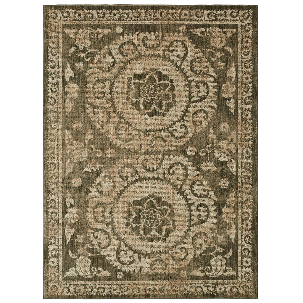 Suzani Tapestry Grey Rug - Studio Collection