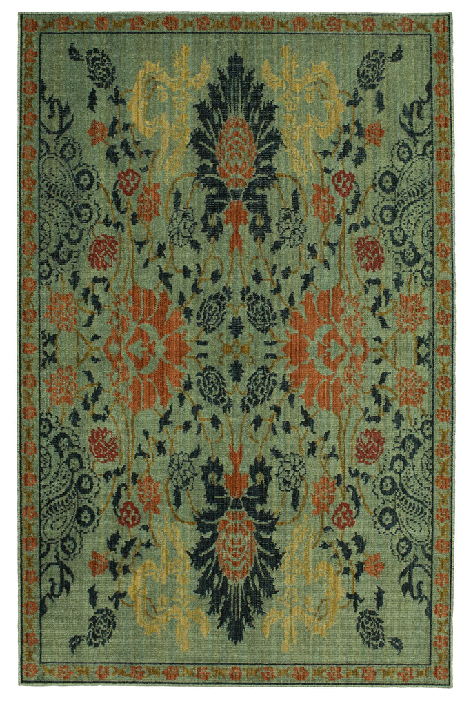 Paris Garden Aquamarine Rug - Vintage Tapis Collection