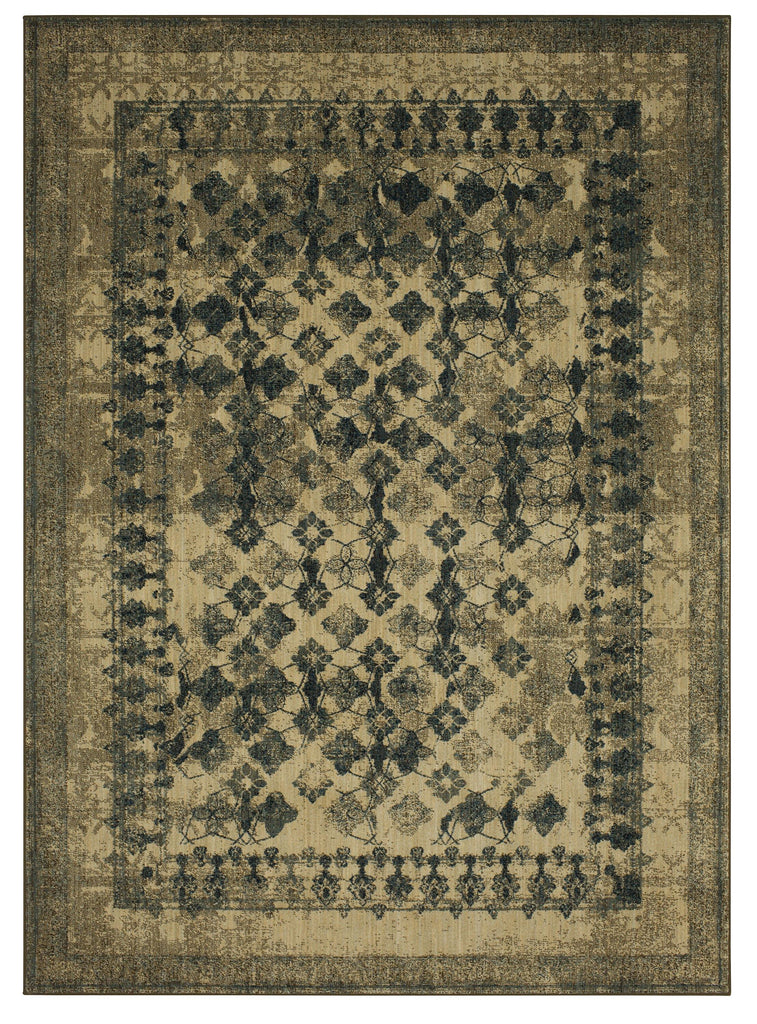 Faded Arabesque Cream Rug - Spice Market Collection