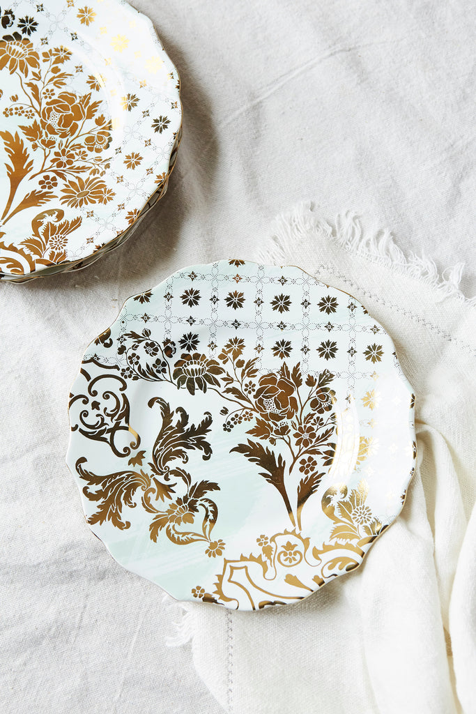 Patina Vie Chateau Luxe Mint Salad Plate