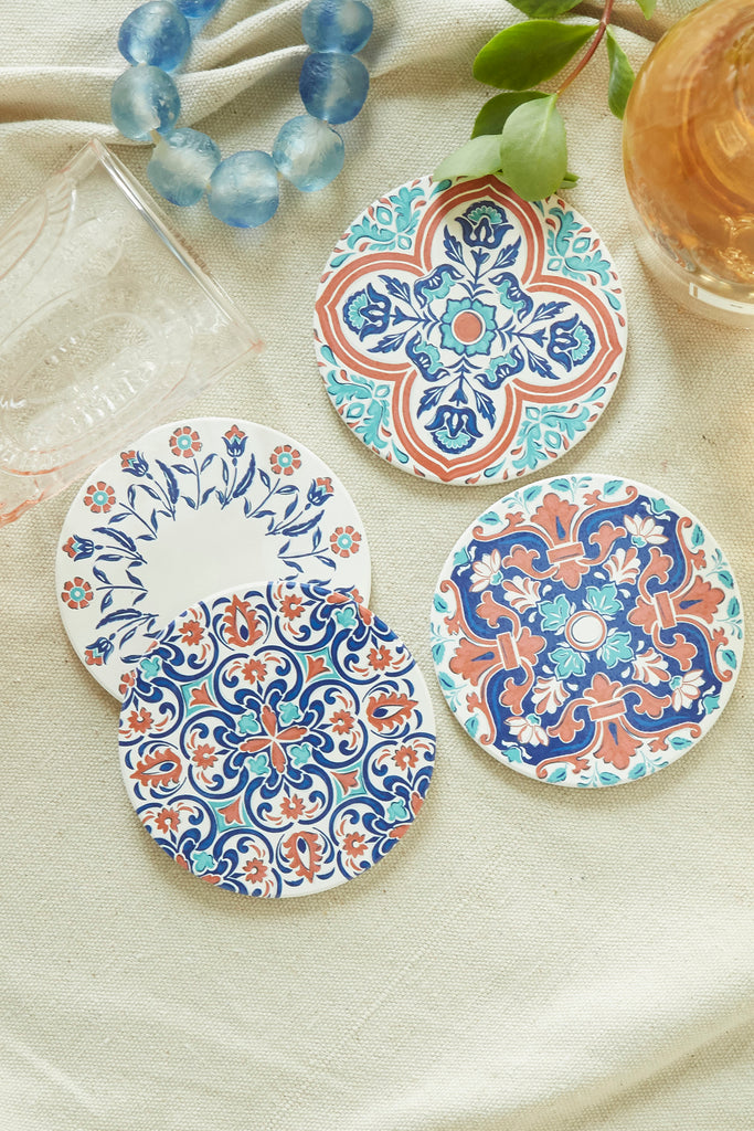 French Village Coasters, S/4