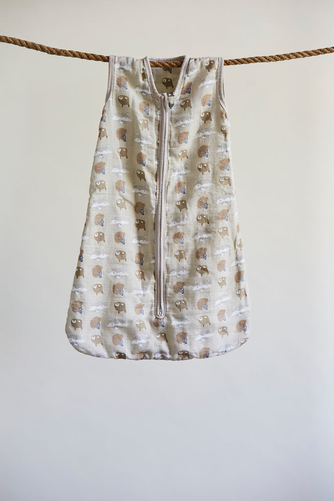 Patina Vie Woodland Friends Muslin Baby Sleep Sack