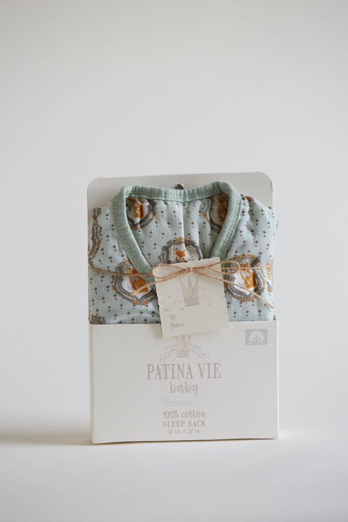 Patina Vie Cuddle Fox Muslin Baby Sleep Sack