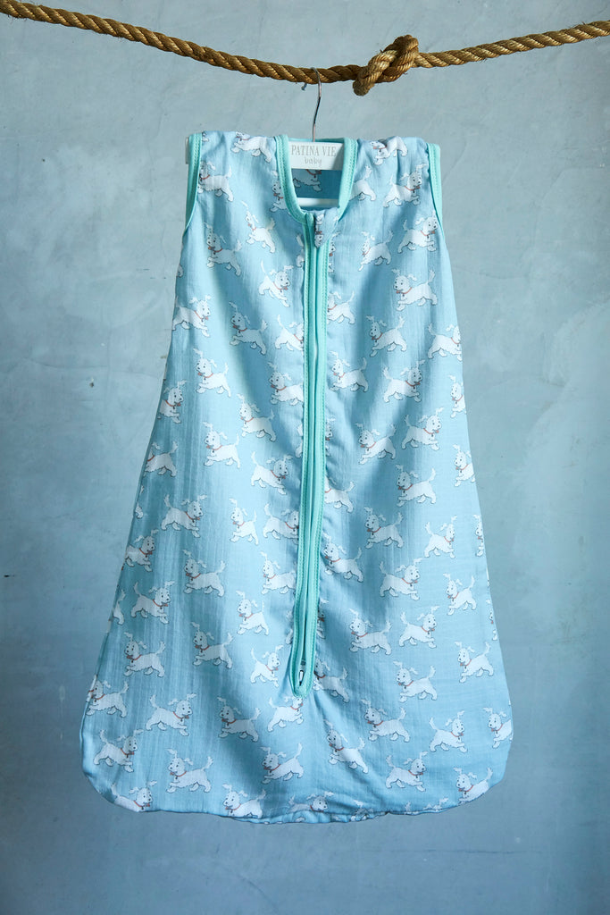Patina Vie Frolicking Puppy Muslin Baby Sleep Sack