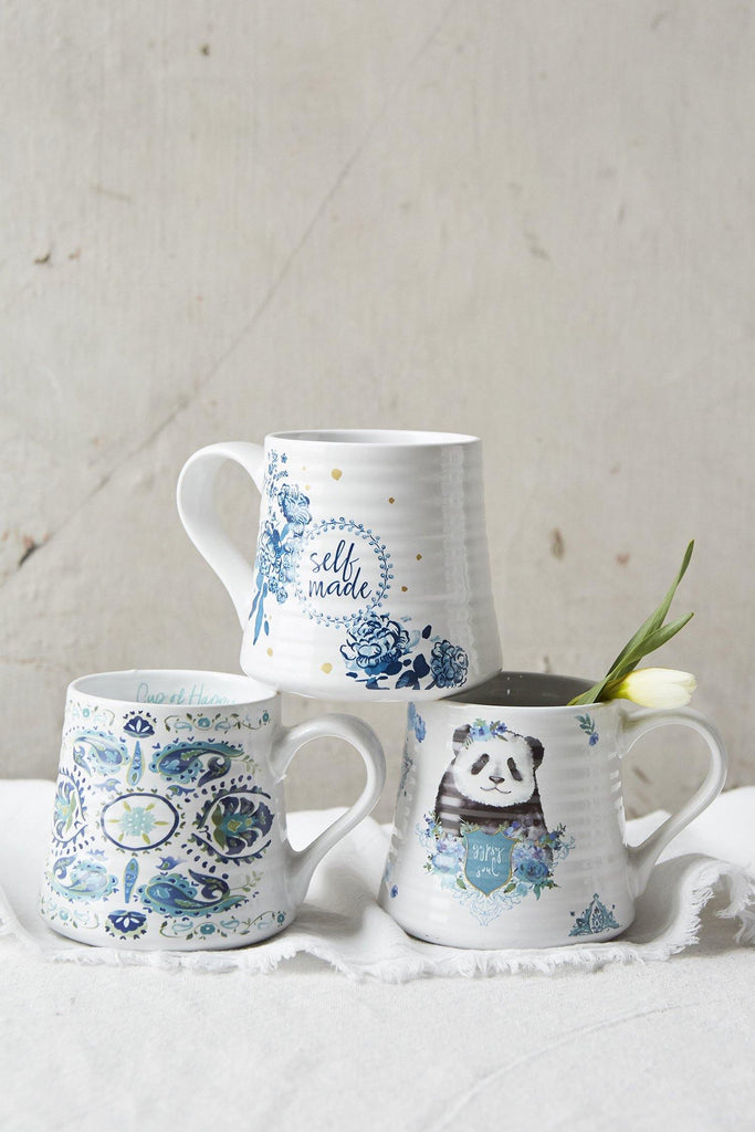 Patina Vie Happy & Bleu Mug Collection