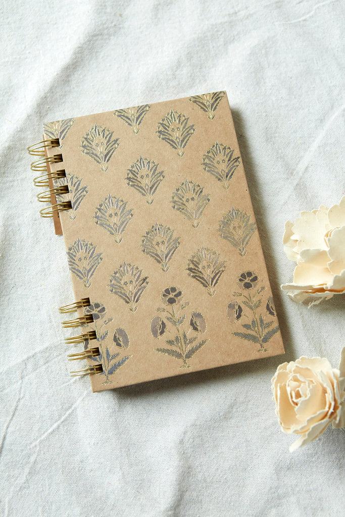Patina Vie Kraft Spiral Journal