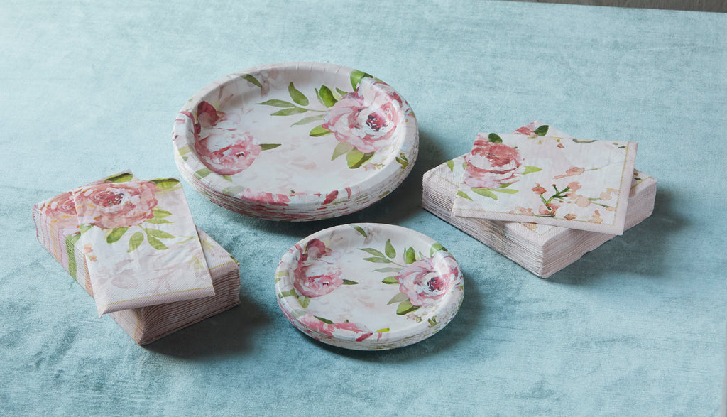 Patina Vie Blush Peonies Paper Party Collection
