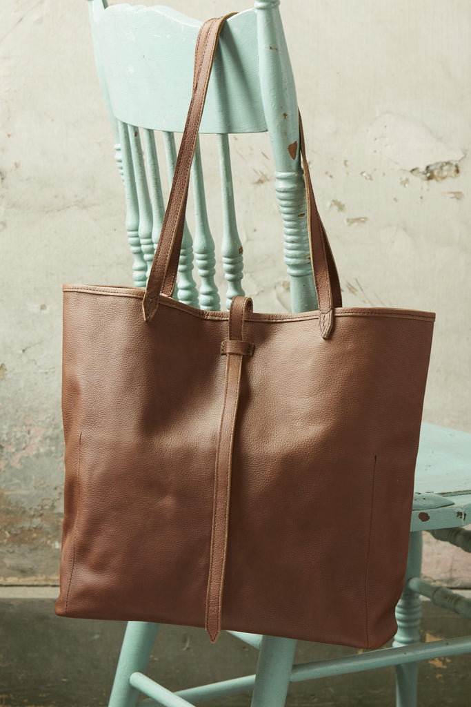 Cecilia Cacao Leather Handbag - Patina Vie