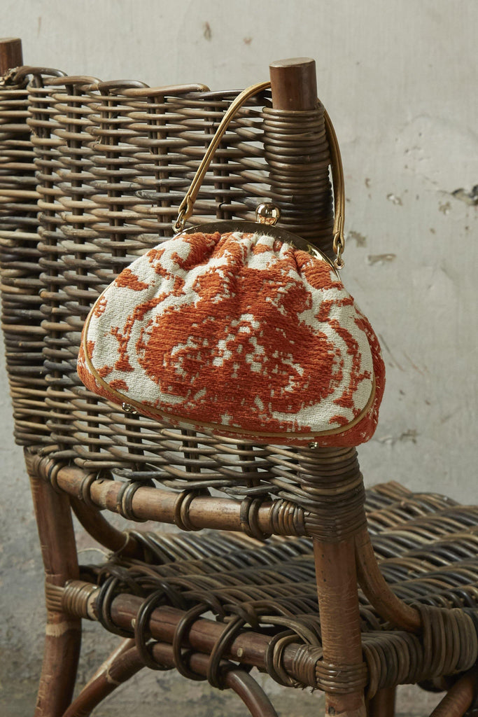 Tangerine Tapestry Evening Bag - Patina Vie