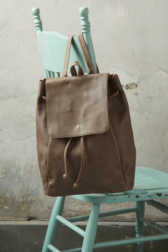 Isabel Petite Leather Backpack