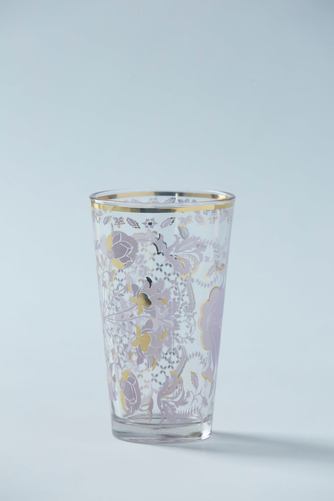 Patina Vie Lilac Tapestry Tall Glass, S/4