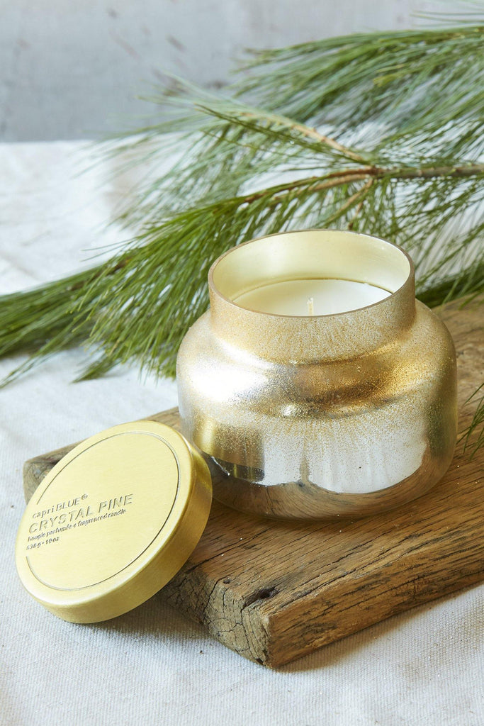 "Glittered ""Crystal Pine"" Candle"