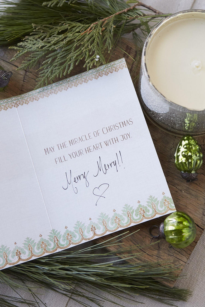 Boxed Holiday Cards Metallic + Wintergreen