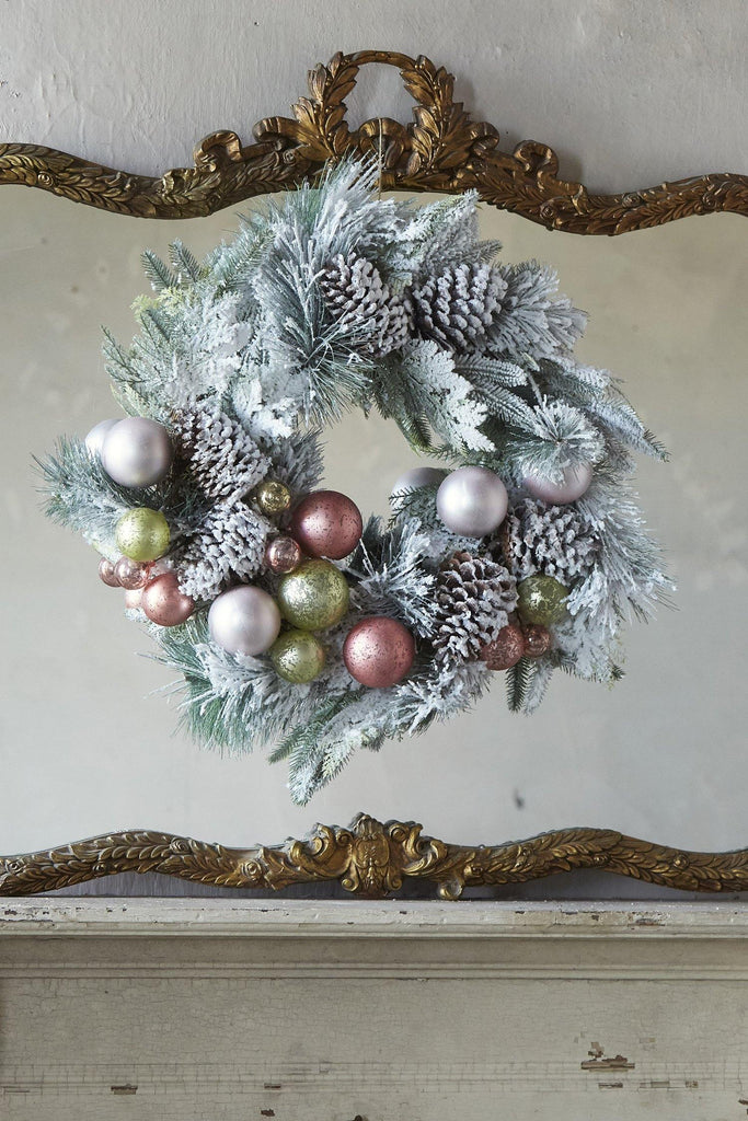 French Flocked Wreath
