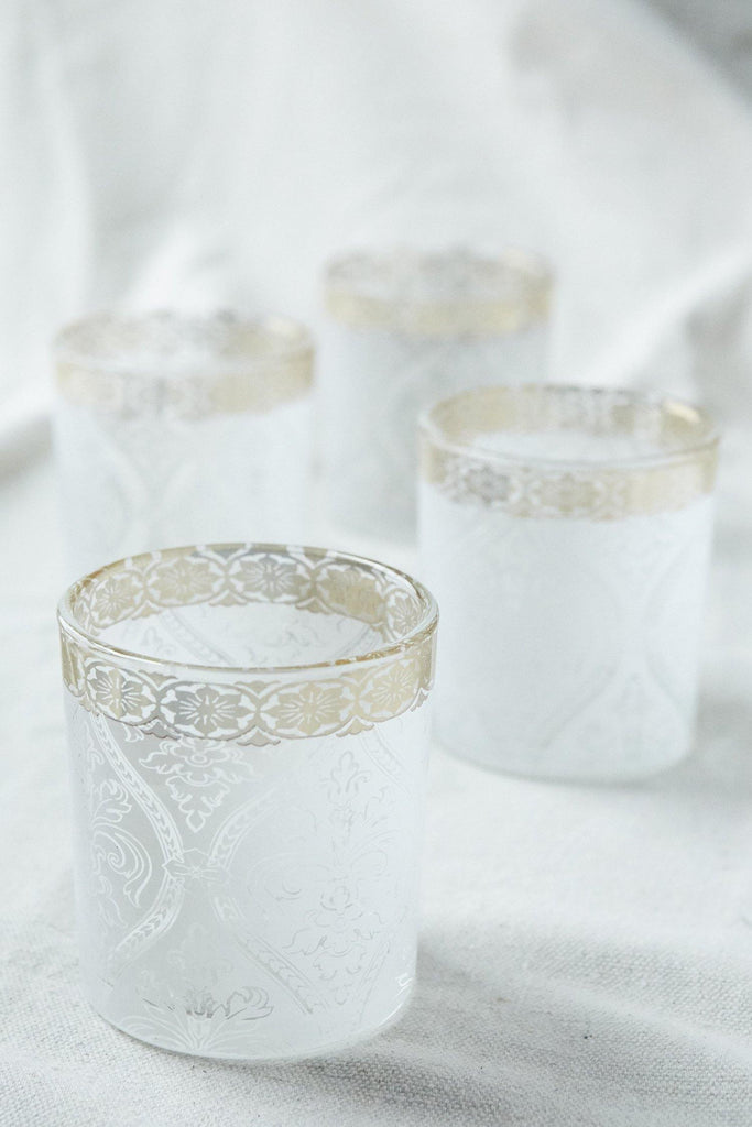 Patina Vie White Gem Cocktail Glass, S/4 - Patina Vie