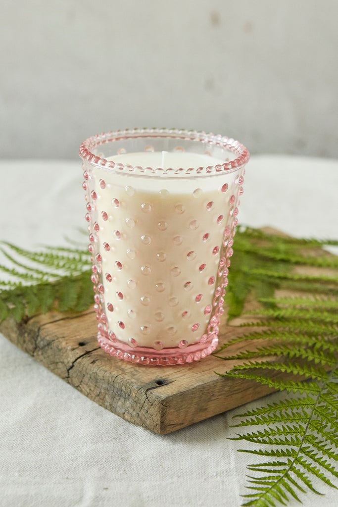 NO. 92 Honeysuckle Hobnail Glass Candle
