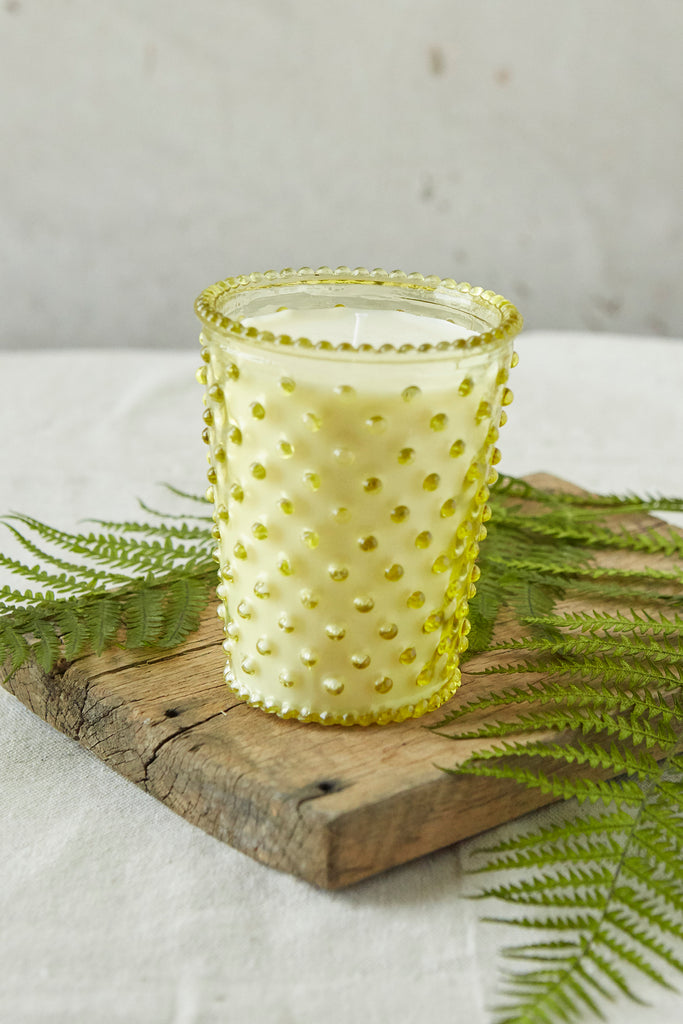 NO. 24 Fir & Grapefruit Hobnail Glass Candle