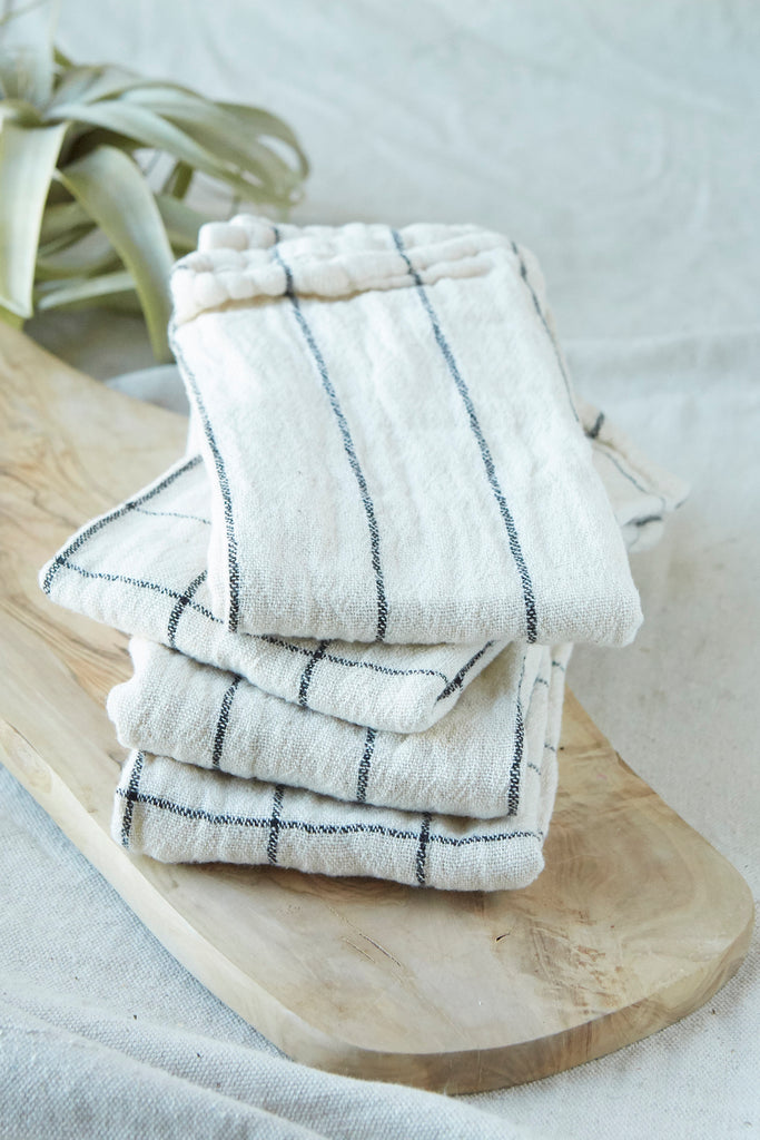Striped Cotton Napkins, S/4