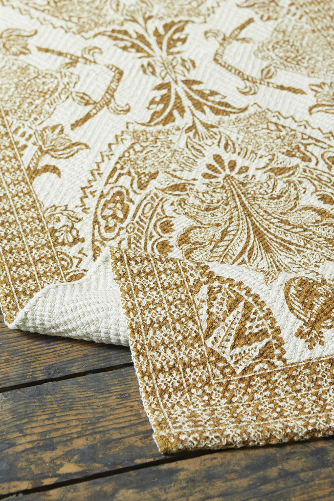 Damask Ochre Accent Rug