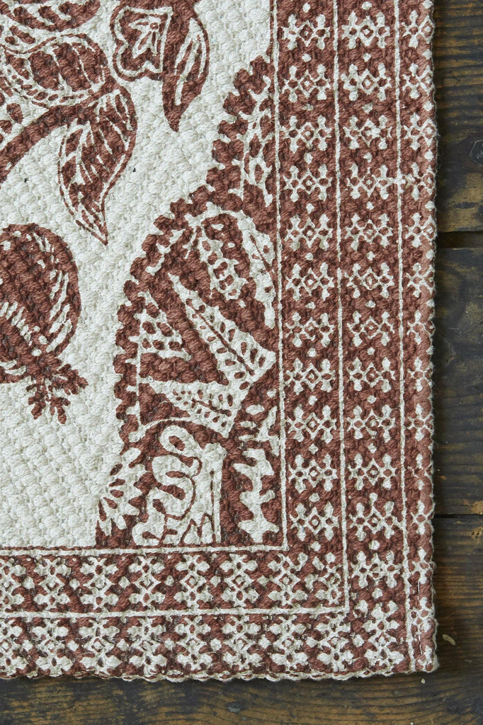 Damask Terracotta Accent Rug