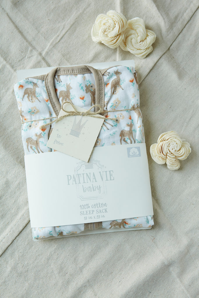 Patina Vie Country Fawn Muslin Baby Sleep Sack
