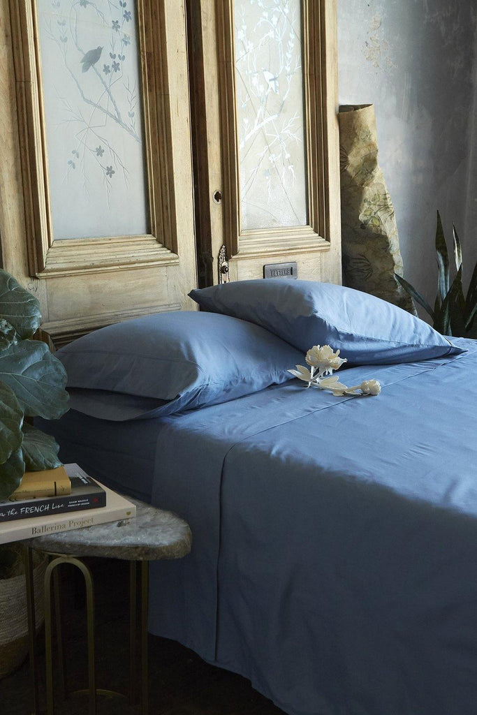 Patina Vie 100% Cotton Indigo 4 Piece Sheet Set - Patina Vie