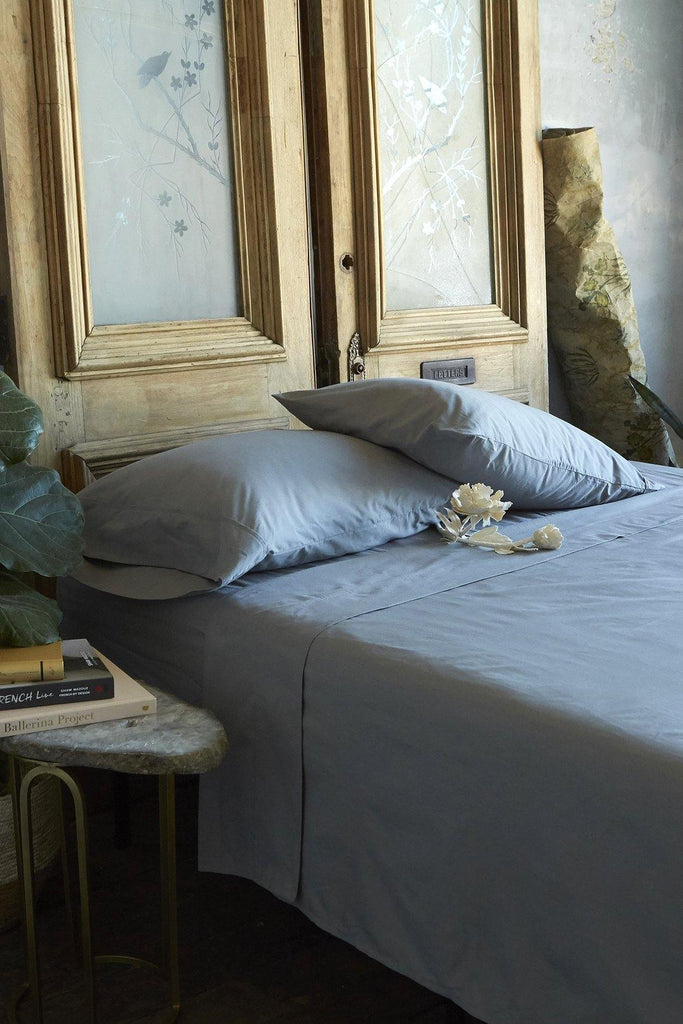Patina Vie 100% Cotton Grey 4 Piece Sheet Set - Patina Vie