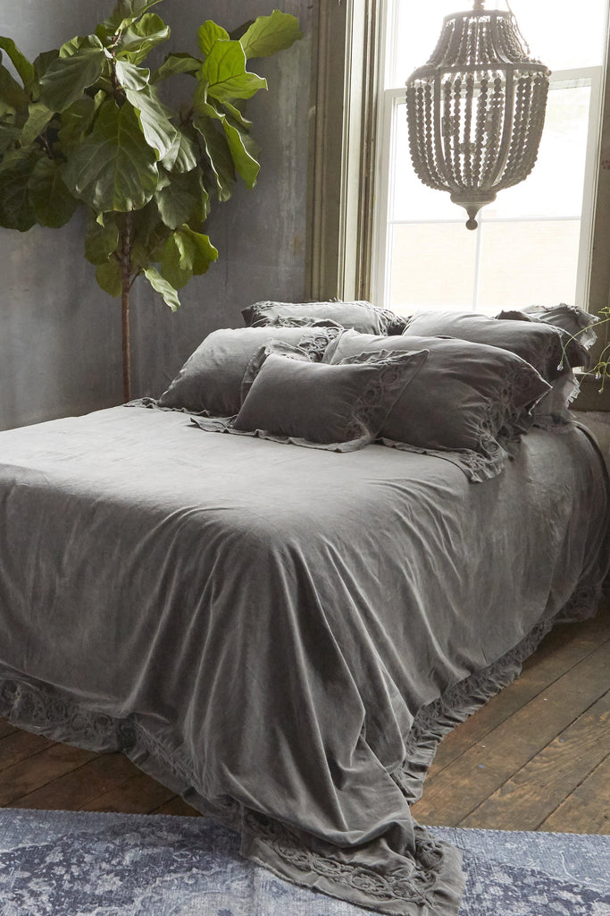 Patina Vie Adelaide Cotton Velvet Bedding - Patina Vie