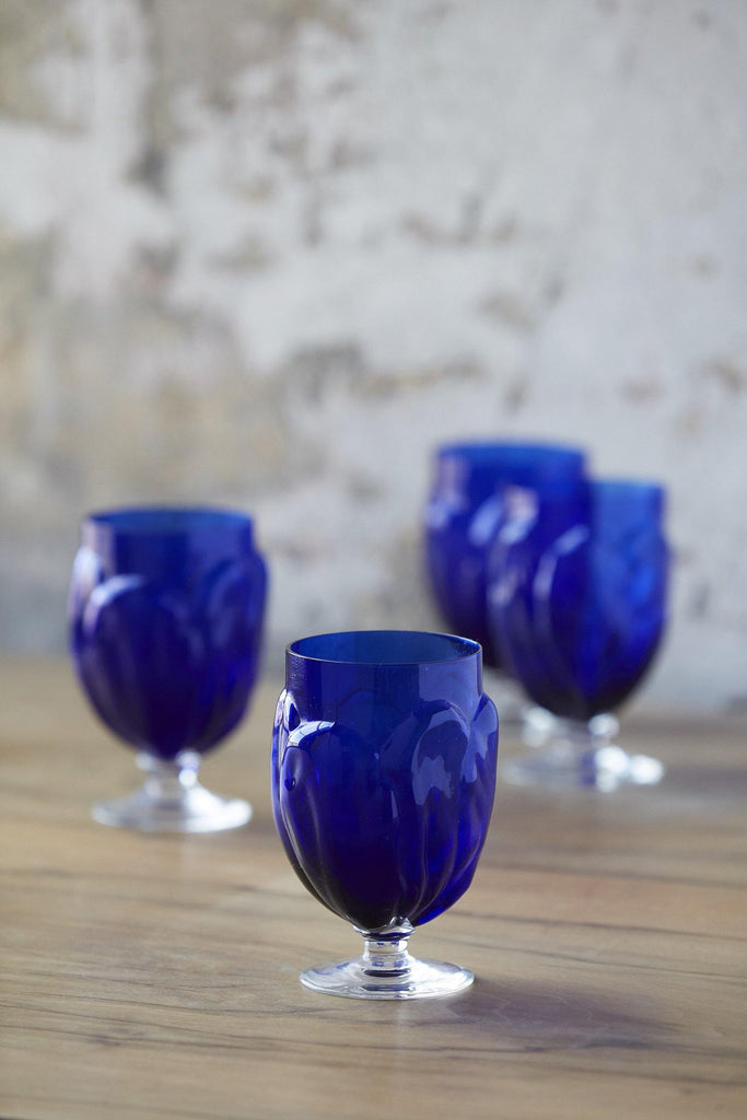 Patina Vie Vintage Cobalt Stems, Set of 4