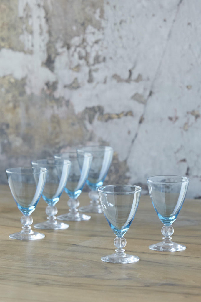 Patina Vie Vintage Aqua Cordials, Set of 6 - Patina Vie
