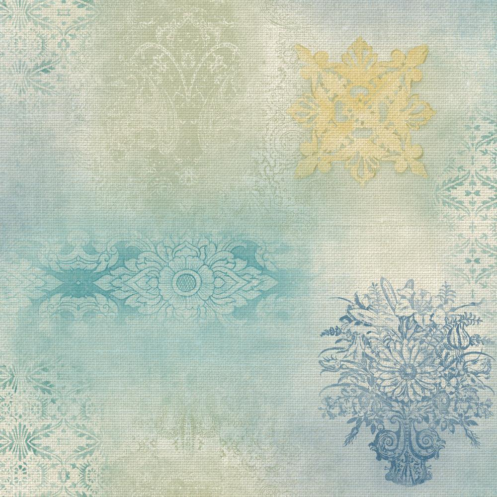 Patina Vie Prisha Patchwork Wallpaper - Sage - Patina Vie