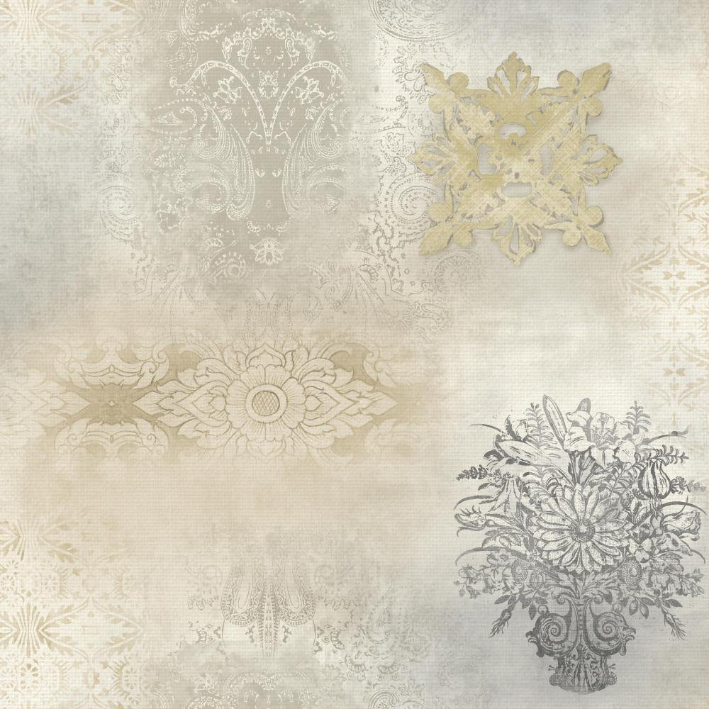 Patina Vie Prisha Patchwork Wallpaper - Neutral - Patina Vie