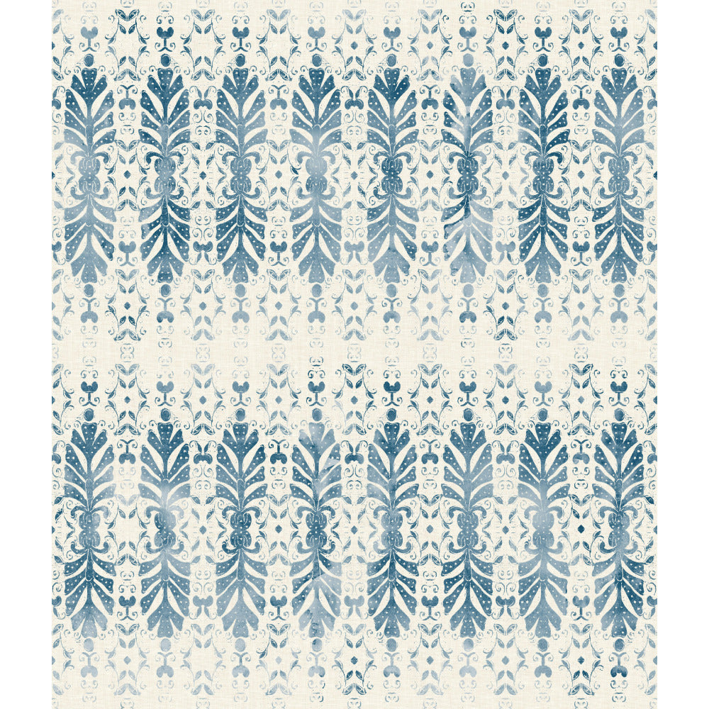 Patina Vie Shangri-la Fan Wallpaper - Navy