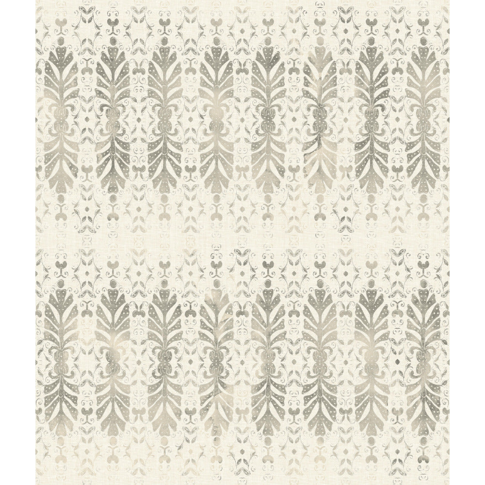 Patina Vie Shangri-la Fan Wallpaper - Grey