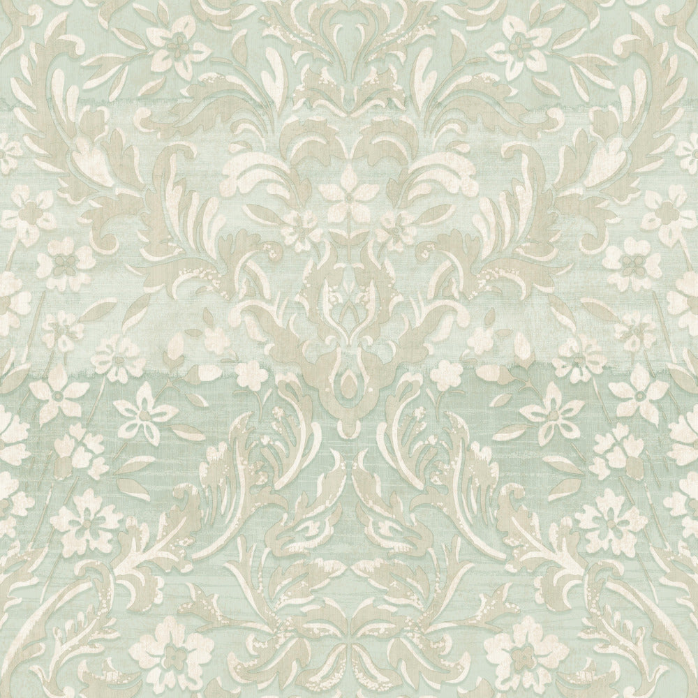 Patina Vie Zara Damask Wallpaper - Mint