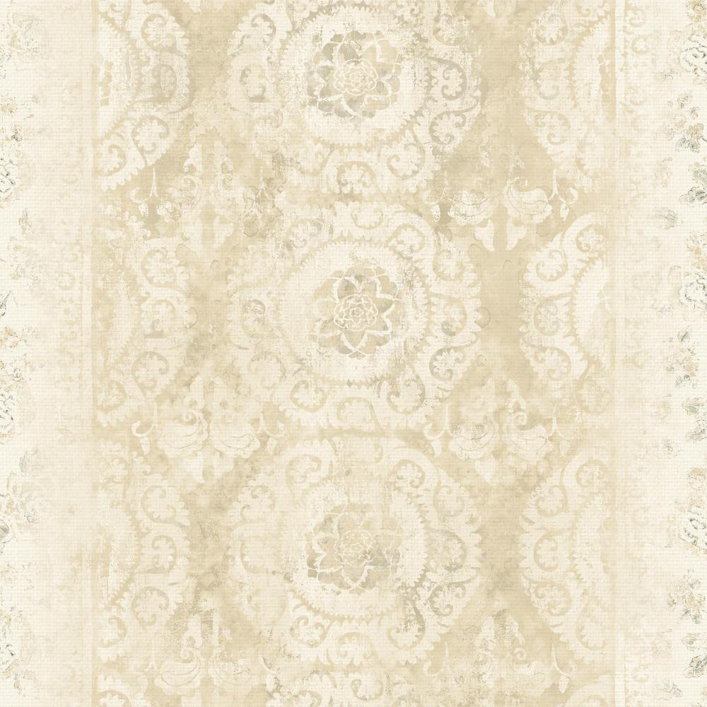 Patina Vie Mandala Stripe Transition Wallpaper - Neutral - Patina Vie