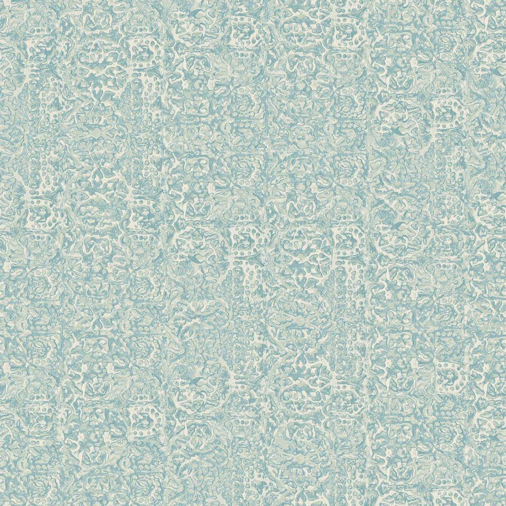 Patina Vie Metalwork Emboss Wallpaper - Blue