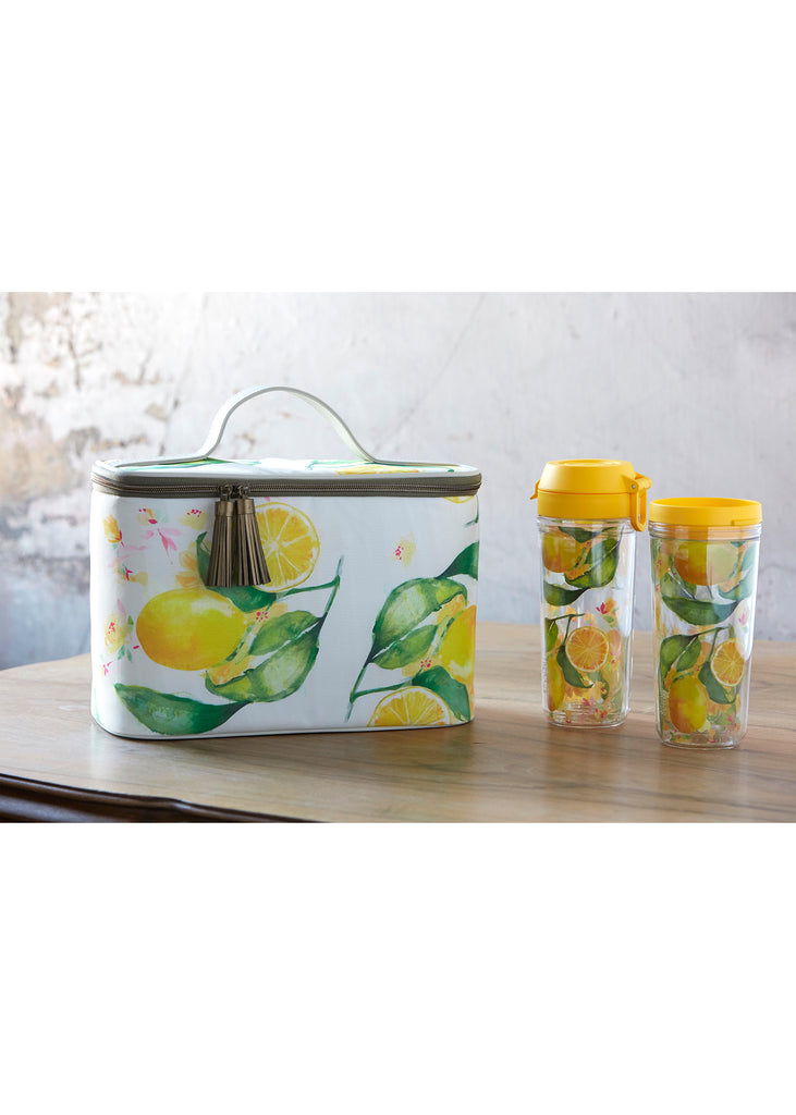 Patina Vie Glam Lunch Tote Citrus
