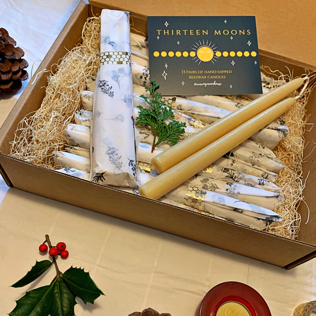 13 Moons Beeswax Tapers Gift Box