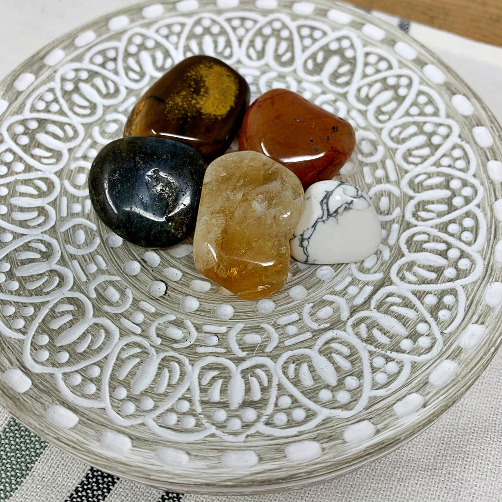 Leo Tumbled Crystal Set