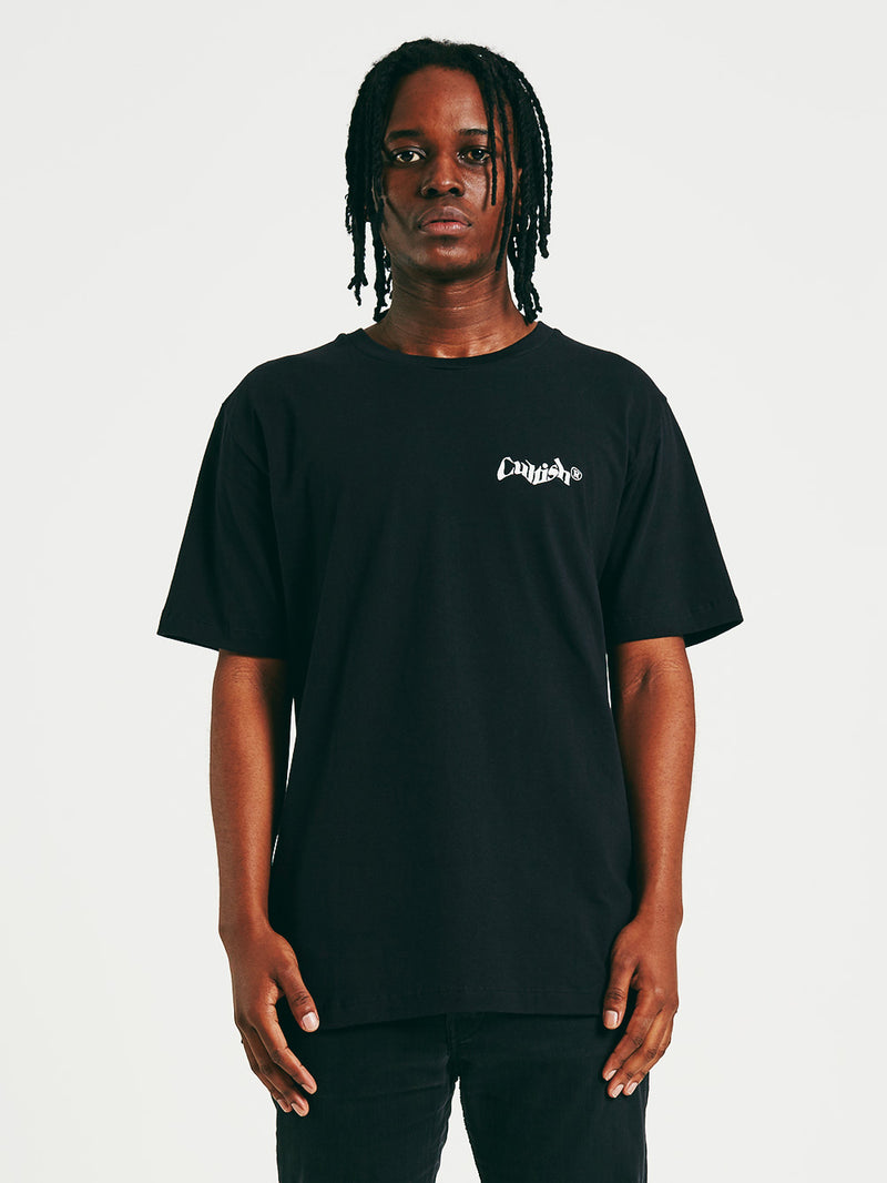 Black Stacked C® Logo R/F T-Shirt
