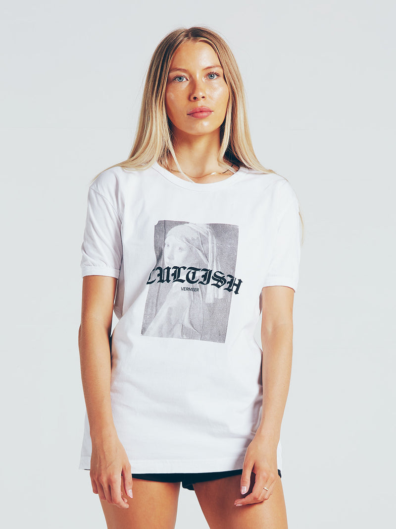 Distressed Stilleven met Rozen Print
