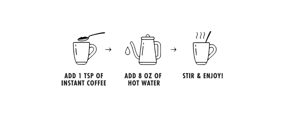 instant coffee brewing instructions