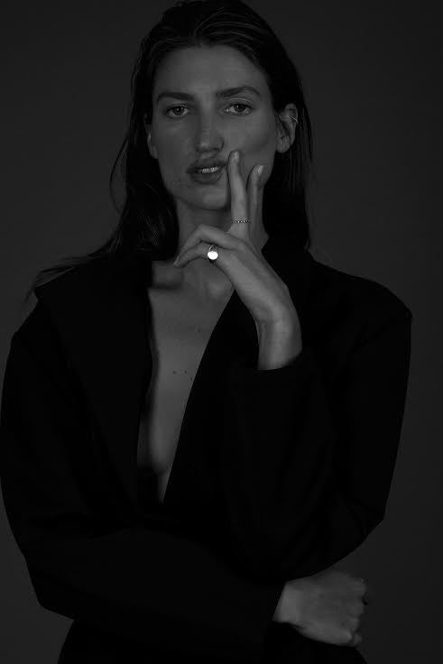 Jelena Behrend Pinky Ring on model Michele Ouellet Photogapher Michaela Winstone Stylist Michell Tomaszewski