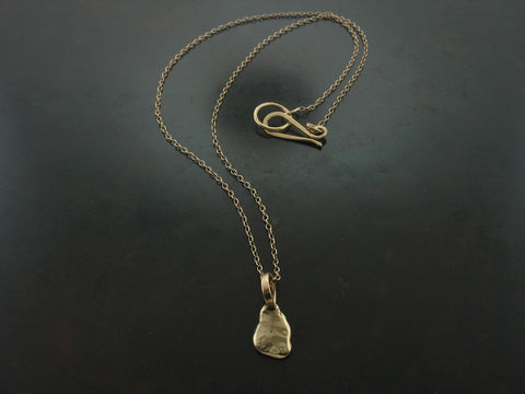Yellow Gold Nugget Necklace