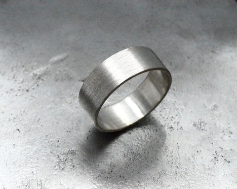 ALBERT'S RING PLATINUM 8MM WIDE