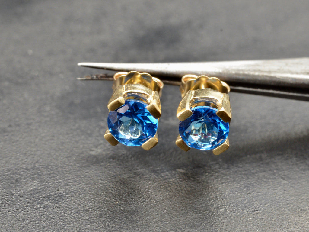 a9ecf624b Emilia Blue Topaz Stud Earrings – Jelena Behrend Studio