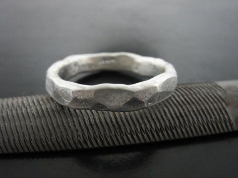 Dionysus Wedding Ring - Sterling Silver